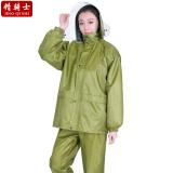 Katalog Jing Shi Setelan Baju Hujan Celana Hujan Terpisah Kain Kanvas Tebal Bersepeda Single Layer Terbaru