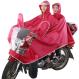 Promo Jing Shi Jas Hujan Dua Orang Bersepeda Pinggiran Topi Lebar Transparan Reflektif Merah Anggur Di Tiongkok