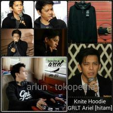 Knit Hoodie / Jaket Rajut Greenlight Ariel - Hitam - 57A3bc