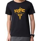 Kobe Bryant Logo T Shirt Pria Murni Cotton Print Lengan Pendek Nba Kemeja Tema Intl Indonesia