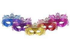 Kobwa 5 Macam Warna Masquerade Karnaval Venesia Masker dengan Imperial Crown Cosplay Masker-Intl