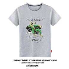 Kocok Sen Aliansi Avenger Rocky Rocky Baju Kaos Loki Saya Melakukan Apa Yang Saya Inginkan Lengan Pendek Pria (Abu- abu)