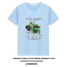 Kocok Sen Aliansi Avenger Rocky Rocky Baju Kaos Loki Saya Melakukan Apa Yang Saya Inginkan Lengan Pendek Pria (Biru Muda)