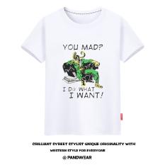 Kocok Sen Aliansi Avenger Rocky Rocky Baju Kaos Loki Saya Melakukan Apa Yang Saya Inginkan Lengan Pendek Pria (Putih)