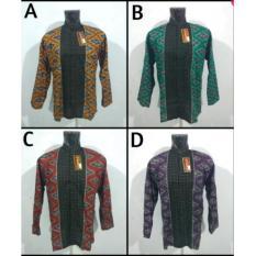 Koko Batik Pria Dewasa Baju Atasan Fashion Kemeja Cowok Lengan Panjang Trend Modern Murah