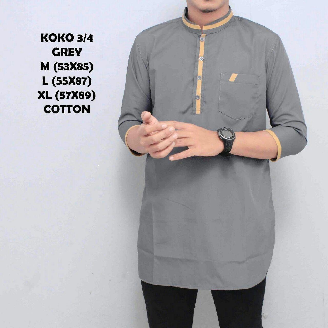 Gudang Fashion - Baju Koko Fashion - Hijau Lumut KOKO PAKISTAN / KEMEJA MUSLIM PRIA /