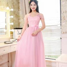 Dimana Beli Gaun Pengapit Wanita Model Panjang Lengan Pendek Sedang Gaya Korea Banyak Warna Multimodel D Model Tas Bahu Bahu Bagian Merah Muda Baju Wanita Dress Wanita Gaun Wanita Oem