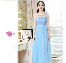 Review Tentang Gaun Pengapit Wanita Model Panjang Lengan Pendek Sedang Gaya Korea Banyak Warna Multimodel Sebuah Model Lengan Langit Biru
