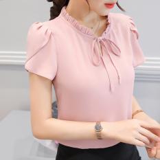 Manna Baju Chiffon Wanita Putih Pink