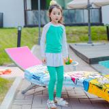 Harga Termurah Sayang Anak Perempuan Siswa Cepat Kering Terpisah Baju Selam Anak Anak Baju Renang Biru Tua Hong