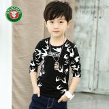 Diskon Korea Fashion Style Anak Anak Katun Lengan Panjang Anak Laki Laki Bottoming Kemeja T Shirt Hitam