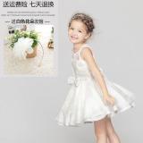 Toko Korea Fashion Style Baru Anak Gaun Perempuan Musim Panas Rok Putri Rok A507 Putih Hadiah Bunga Band Rambut A507 Putih Hadiah Bunga Band Rambut Termurah
