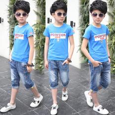 Spesifikasi Korea Fashion Style Anak Laki Laki Anak Anak Baru Celana Pendek Denim Biru Merk Other