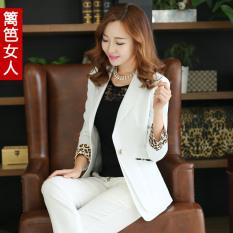 Korea Modis Gaya Anti Musim Produk Baru Pakaian Wanita Jas Setelan Jas Mini (Bulan Terang Putih)