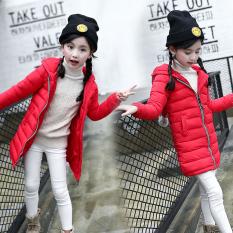 Korea Modis Gaya Baru Anak Laki-laki Gadis Bulu Angsa Pakaian Katun (Merah)