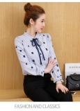 Jual Beli Korea Fashion Style Baru Kemeja Sifon Light Blue Baju Wanita Baju Atasan Kemeja Wanita