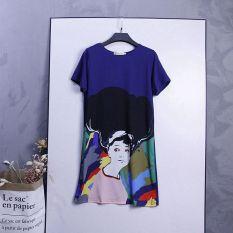 Diskon Korea Fashion Style Baru Lengan Pendek Leher Bulat T Shirt Biru Baju Wanita Baju Atasan Kemeja Wanita Oem