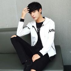 Harga Korea Fashion Style Baru Musim Semi Siswa Jaket Pria Keren Jas Putih 607 Model Jaket Pria Jaket Bomber Baru