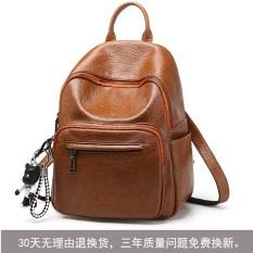 Jual Korea Fashion Style Baru Wanita Tas Punggung Kecil Tas Ransel Brown Kulit Pu 32 Cm 25 Cm Original