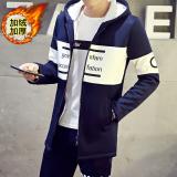 Toko Korea Fashion Style Berkerudung Muda Jaket Jaket Bisbol Jaket Pria Tambah Beludru Lebih Tebal Setengah Panjang Model My625 Angkatan Laut Oem Online