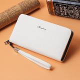 Jual Korea Fashion Style Bisnis Clutch Tas Zipper Paragraf Panjang Wallet Putih Murah