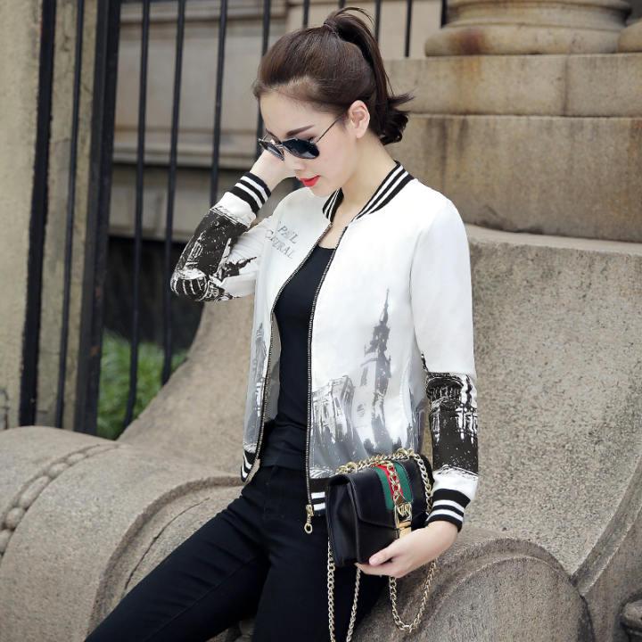 Korea Fashion Style Bordir Slim Terlihat Langsing Ayat Pendek Jas Jaket Bisbol (Gambar Warna)