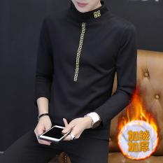Beli Korea Fashion Style Ditambah Beludru Pria Pakaian Luar Yang Hangat Bottoming Kemeja Tebal Lengan Panjang T Shirt Great Wall Hitam Baju Atasan Kaos Pria Kemeja Pria Yang Bagus