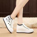 Spesifikasi Korea Fashion Style Ditambah Beludru Yang Berat Itu Datar Dengan Sepatu Kain Kanvas Sepatu Jejak Kaki Kucing Model Putih Muffin Flat Shoes Musim Gugur Sepatu Tunggal Sepatu Wanita Sepatu Sport Sepatu Sneakers Wanita Dan Harga