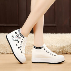 Dimana Beli Korea Fashion Style Ditambah Beludru Yang Berat Itu Datar Dengan Sepatu Kain Kanvas Sepatu Jejak Kaki Kucing Model Putih Muffin Flat Shoes Musim Gugur Sepatu Tunggal Sepatu Wanita Sepatu Sport Sepatu Sneakers Wanita Oem