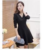 Jual Korea Fashion Style Elegan Slim Terlihat Langsing Rok Berbentuk Huruf A Hitam Baju Wanita Dress Wanita Gaun Wanita Branded