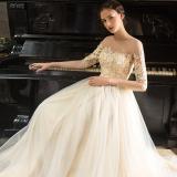 Harga Korea Fashion Style Emas Baru Renda Model Panjang Gaun Gaun Malam Warna Emas Muda Tiongkok