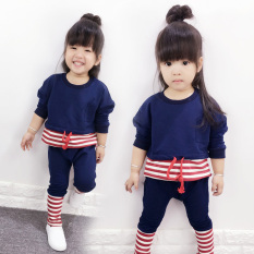 Korea Fashion Style Gadis Anak-anak Anak Perempuan Kecil Musim Semi (Penting Set)