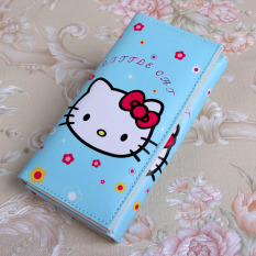 Harga Korea Fashion Style Hello Kitty Animasi Anak Perempuan Tas Lipat Dompet Biru Kt Kepala Tas Tas Wanita Dompet Wanita Asli Other