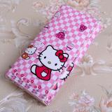 Cuci Gudang Korea Fashion Style Hello Kitty Animasi Anak Perempuan Tas Lipat Dompet Kotak Kotak Kt Kepala Tas Tas Wanita Dompet Wanita