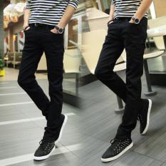 Korea Modis Gaya Hitam Laki-laki Musim Gugur Celana Pensil Jeans (Hitam (Dua To Send Sebuah To Send Sebuah ikat Pinggang)) panjang Pants Man Pria Celana Chino Celana Cargo