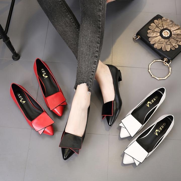 Korea Fashion Style Hitam Wanita Musim Semi Flat Shoes Sepatu Wanita Sepatu (Hitam) Sepatu wanita Flat shoes