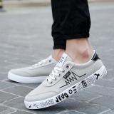 Beli Korea Fashion Style Hitam Siswa Pasang Sepatu Musim Gugur Sepatu Kanvas Abu Abu Online