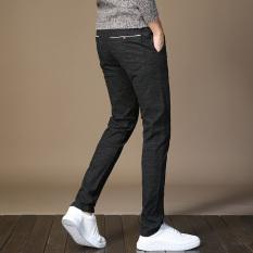 Korea Fashion Style Kain Linen Pria Slim Celana Panjang Laki Laki Celana Hitam Celana Pria Celana Panjang Pria Celana Chino Celana Cargo Tiongkok Diskon