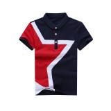 Harga Korea Fashion Style Katun Anak Kerah Kemeja Polo T Shirt Biru Tua Biru Tua Tiongkok