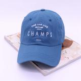 Jual Topi Korea Fashion Style Musim Panas Topi Baseball Katun Kecil Merak Biru Import