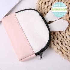 Korea Fashion Style Kelinci Telinga Dompet Kunci Setengah Lingkaran Dompet Uang Receh (Flash Kristal Kelinci