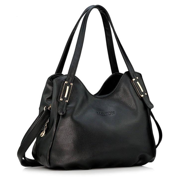 harga Korea Fashion Style kulit lembut bahu portabel utusan tas wanita tas (Hitam) Lazada.co.id