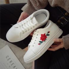 Korea Fashion Style Kulit Perempuan Datar Siswa Olahraga Sepatu Sepatu Kets Putih Putih Sepatu Wanita Sepatu Sport Sepatu Sneakers Wanita Terbaru