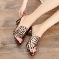 Diskon Korea Fashion Style Kulit Perempuan Pakaian Luar Dengan Sandal Summer Sepatu Wanita Coklat Motif Macan Tutul 17 Produk Baru Akhir Tahun