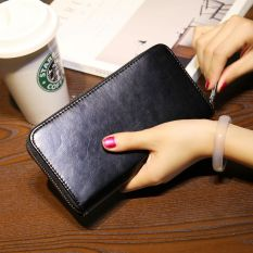 Promo Korea Fashion Style Kulit Pria Paket Telepon Bagian Panjang Dari Zipper Wallet Other Terbaru