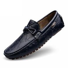 Jual Beli Sepatu Tods Pria Kulit Asli Santai Versi Korea Biru Biru Di Tiongkok