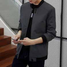 Toko Korea Fashion Style Laki Laki Musim Semi Dan Gugur Ukuran Besar Jeket Pria Tipis Jas 3288 Abu Abu Gelap Murah Tiongkok