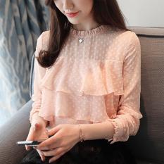 Korea Fashion Style Lengan Panjang Wanita Baru Atasan Baju Dalaman (Pink)