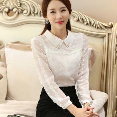 Baju Dalaman Korea Fashion Style Blouse Wanita Manis Kerah Boneka