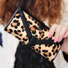 Toko Dompet Korea Fashion Style Motif Macan Tutul Baru Wanita Dompet Kartu Hitam Tas Tas Wanita Dompet Wanita Terlengkap